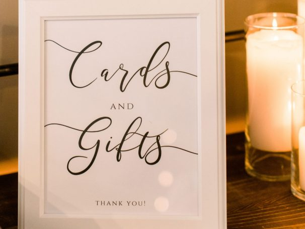 Cards & Gifts Sign | Glass Cylinders & Pillar Candles